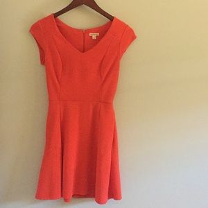 Merona fit and flare orange/pink dress